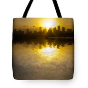 Sydney Harbour Sunset Abstract Tote Bag