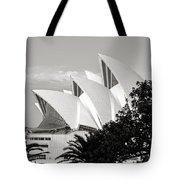 Sydney Opera House Black And White Tote Bag