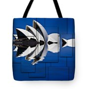 Sydney Opera House Collage Tote Bag
