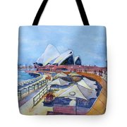 Sydney Shapes Tote Bag by Debbie Lewis