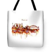 Sydney Watercolor Skyline Tote Bag