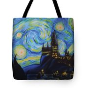 Syfy- Starry Night In Hogwarts Tote Bag