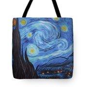 Syfy- Starry Night In Mordor Tote Bag