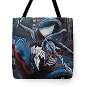 Symbiote Spider-man  Tote Bag