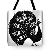 Symbol: Peacock Tote Bag