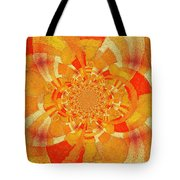 Symmetrical Abstract In Orange Tote Bag