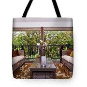 Symmetrical Balcony Tote Bag