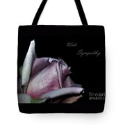 Sympathy Card With A Rose Tote Bag