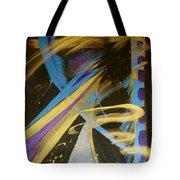 Blue Symphony On Black II Tote Bag