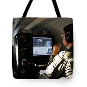 System Operator Operates A Console Tote Bag