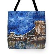 Szechenyi Chain Bridge Budapest Tote Bag