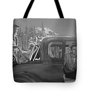 T-04902 Travelling To Climb In Style 1955  Tote Bag