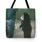 T-203503 Bear Feeding In The Old Days Tote Bag