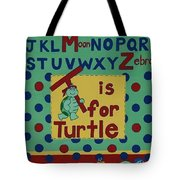 T Is For Turtle Tote Bag