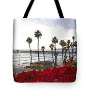 T-street View Of San Clemente Pier Tote Bag
