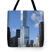 T Tower Chicago River Tote Bag