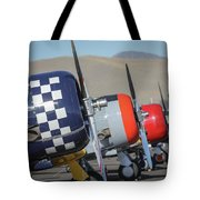 T6 Flight Line At Reno Air Races Tote Bag by John King