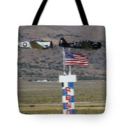 T6 Tango At Reno Air Races Home Pylon Finish Line Tote Bag by John King