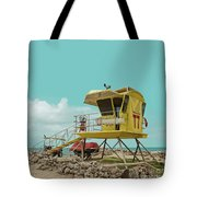 T7 Lifeguard Station Kapukaulua Beach Paia Maui Hawaii Tote Bag