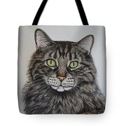 Tabby-lil' Bit Tote Bag by Megan Cohen