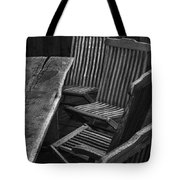 Table And Chairs Husavik Iceland 3767 Tote Bag
