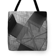 Table Chairs From Above Tote Bag