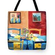 Table For Four Tote Bag