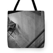 Table For Two Black And White Tote Bag