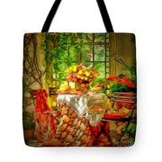 Table For Two In Ambiance Tote Bag