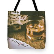 Table Games And The Wild West Saloon  Tote Bag
