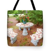 Table In The Garden Tote Bag