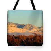Table Mesa Winter Morning Tote Bag