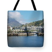 Table Mountain From The V And A Waterfront Quays Tote Bag