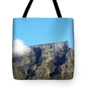 Table Mountain - Still Life With Blue Sky And One Cloud Tote Bag