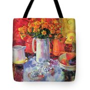 Table Reflections Tote Bag