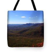 Table Rock Mountain From Caesars Head State Park In Upstate South Carolina Tote Bag