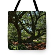 Table Under The Oak Tree Tote Bag