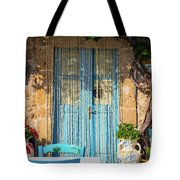 Tables In A Traditional Italian Restaurant In Sicily, Italy Tote Bag