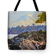 Tacoma In The Fall Tote Bag