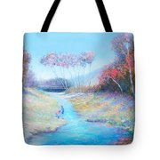 Tadpoling By The River Tote Bag