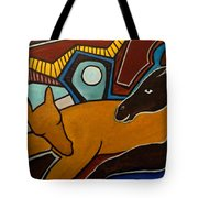 Taffy Horses Tote Bag