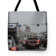 Taganskaya Square In Snow Tote Bag