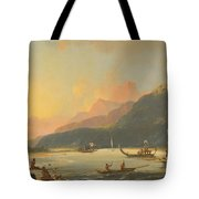 Tahitian War Galleys In Matavai Bay Tote Bag