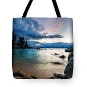 Tahoe Bursting Clouds Tote Bag