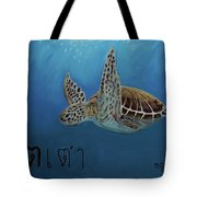 Tahow Sea Turtle Tote Bag