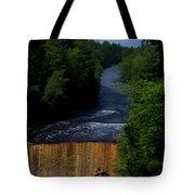 Tahquamenon Lower Falls Upper Peninsula Michigan Vertical 07 Tote Bag