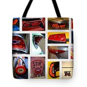 Tail Light Collage Number 1 Tote Bag