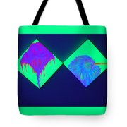 Tailed Flower And Kiwi Tote Bag