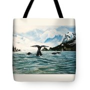 Tailing Whales Prince William Sound Tote Bag