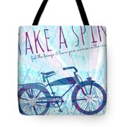 Take A Spin Tote Bag